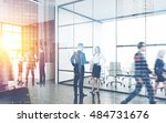Busy Office Interior. Group Of...