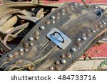 brown leather saddle | Shutterstock . vector #484733716