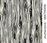 seamless hand drawn ink brush... | Shutterstock .eps vector #484750498