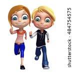 3d rendered illustration of kid ... | Shutterstock . vector #484754575