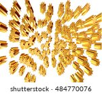 3d illustration. gold stars on... | Shutterstock . vector #484770076