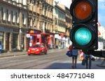 Traffic Light Green. Street...