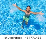 happy children on summer... | Shutterstock . vector #484771498