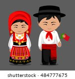 portuguese in national dress... | Shutterstock .eps vector #484777675