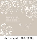 wedding card | Shutterstock .eps vector #48478240