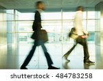 city life  blurred people... | Shutterstock . vector #484783258