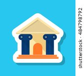 roman architecture icon  vector ... | Shutterstock .eps vector #484798792