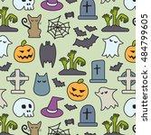 halloween pattern | Shutterstock .eps vector #484799605