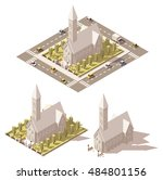 vector isometric low poly... | Shutterstock .eps vector #484801156