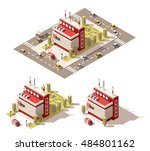 vector isometric low poly... | Shutterstock .eps vector #484801162