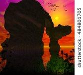 sunset over the ocean | Shutterstock . vector #484801705