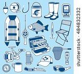 fishing seamless pattern | Shutterstock .eps vector #484832332