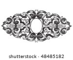antique frame engraving ... | Shutterstock .eps vector #48485182