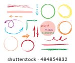 set of hand drawn colorful... | Shutterstock .eps vector #484854832