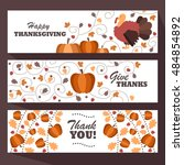 thanksgiving day. decorative... | Shutterstock .eps vector #484854892