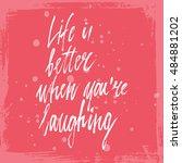conceptual hand drawn phrase... | Shutterstock .eps vector #484881202