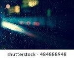 abstract circular bokeh... | Shutterstock . vector #484888948