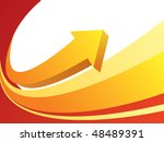 red yellow business background | Shutterstock .eps vector #48489391