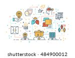 line icon design illustration... | Shutterstock .eps vector #484900012