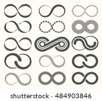 infinity symbol set 15 signs of ... | Shutterstock .eps vector #484903846