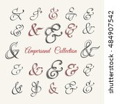 collection of hand drawn... | Shutterstock .eps vector #484907542