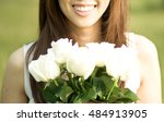 a beautiful young smiling asian ... | Shutterstock . vector #484913905