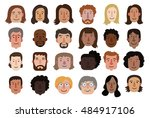 set of illustrations of diverse ... | Shutterstock .eps vector #484917106