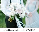 bouquet from spring flowers.... | Shutterstock . vector #484927036
