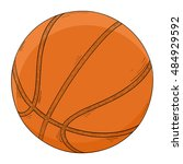 basketball ball. colored sketch.... | Shutterstock .eps vector #484929592