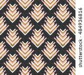 seamless graphic. retro pattern.... | Shutterstock .eps vector #484936816