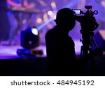 blurred photo of cameraman... | Shutterstock . vector #484945192