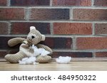 An Old  Abandoned And Sad Teddy ...