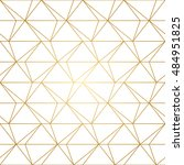 seamless geometric pattern with ... | Shutterstock .eps vector #484951825