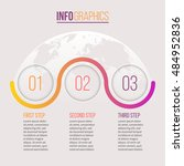 business infographics. timeline ... | Shutterstock .eps vector #484952836