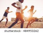 enjoying freedom together.... | Shutterstock . vector #484953262