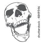 laughing skull   Shutterstock .eps vector #4849546