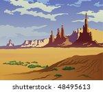 landscape of the arizona desert. | Shutterstock . vector #48495613