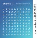 set of material design line...
