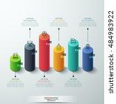modern infographic template... | Shutterstock .eps vector #484983922