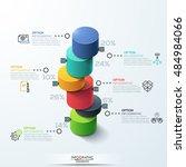 modern infographic template... | Shutterstock .eps vector #484984066