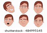 human emotions palette vector... | Shutterstock .eps vector #484995145