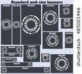 empty box standard size web... | Shutterstock .eps vector #485001466