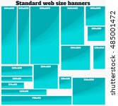 empty box standard size web... | Shutterstock .eps vector #485001472