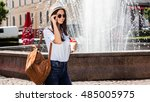 it's a beautiful day in the... | Shutterstock . vector #485005975