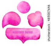 speak pink bubbles watercolor... | Shutterstock .eps vector #485007646