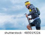 man practicing trail running... | Shutterstock . vector #485019226