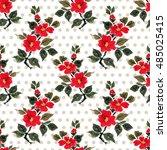 seamless floral pattern... | Shutterstock . vector #485025415