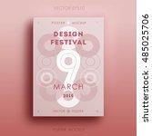 bright design festival poster... | Shutterstock .eps vector #485025706