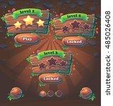 wooden game user interface... | Shutterstock .eps vector #485026408
