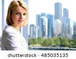 portrait of business woman... | Shutterstock . vector #485035135